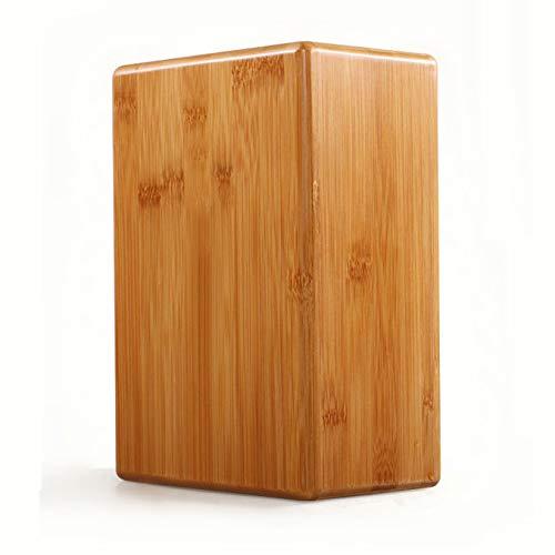 JUANLIAN Ladrillos de Yoga de Ayuda Ladrillos de bambú de Yoga Natural Ladrillos de Yoga de bambú y Madera Ladrillos de Baile de Fitness