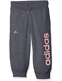 adidas YG ESS LIN 34 P - Pantalons 3/4 pour Fille, Gris