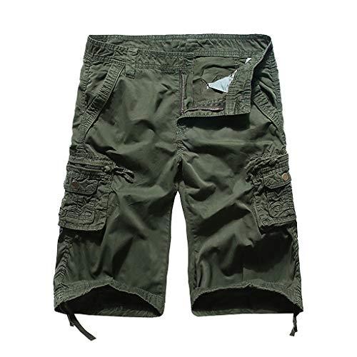Herren Cargo Hosen Bein Taschen lässig Trekking Hose Outdoor Chino Freizeit Baumwolle