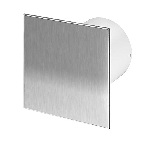 Badlüfter Wand-Ventilator inox Ø 100 mit Nachlauf , Kugellager Silent Trax - Line - Badezimmer-ventilator-lichtschalter