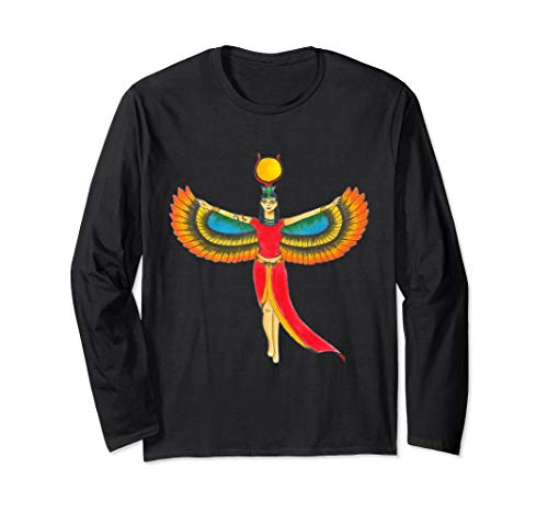 Pharaonen Kostüm Ägyptische - Königin-Pharao-Ägypten-Göttin Isis - ägyptisches Kostüm Langarmshirt
