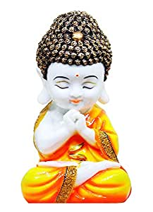 RJKART Handmade Little Baby Monk Buddha Showpiece Idol for Home Décor