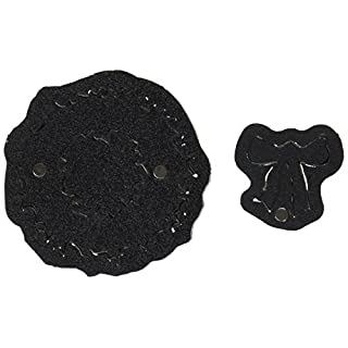 Sizzix Movers & Shapers magnetisch 2Stück Mini Kranz, grau/schwarz