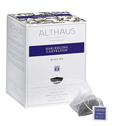 Althaus Pyra Pack Darjeeling Castelton 15 x 2,75 g · Schwarzer Tee im Pyramidenbeutel