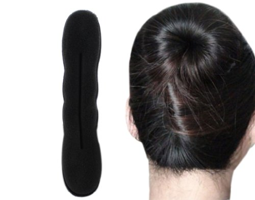 BONAMART ® Hair Haar Twister Schwamm Schwarz Frisurenhilfe Band Dutt Styler Haartwister L