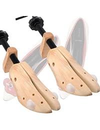 Katomi ein Paar Schuhspanner Länge & Breite: 8 ~14/10 (DE) 0% Echtleder Holz Komplett mit zwei Druckentlastung Plugs--UK Größe Herren: 7-11.5 getragen werden