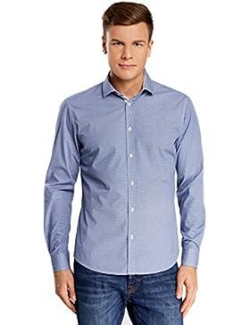 oodji Ultra Uomo Camicia Basic Aderente