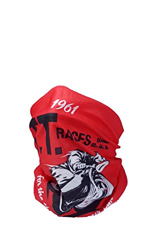Isle of Man TT 1961 Poster Design – IOM – Halswärmer – RUFFNEK® Multifunktions-Schal/Snood – One Size für Damen, Herren & Kinder Test
