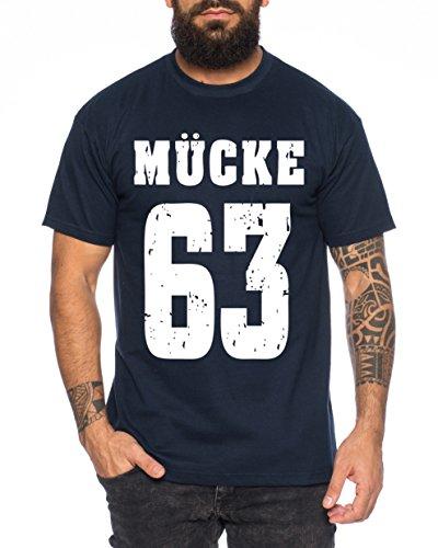 Mücke 63 Buddy Movie Star Film Herren T-Shirt, Farbe:Dunkelblau;Größe:4XL