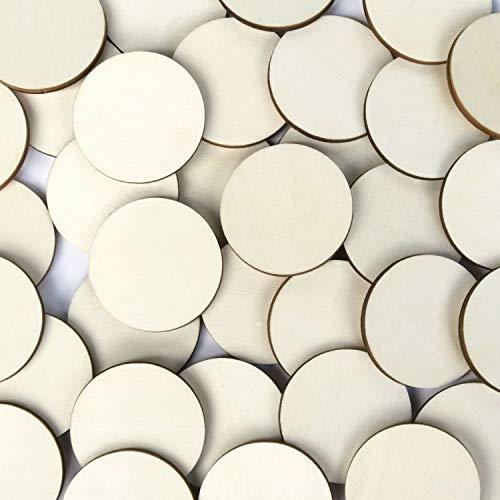 Holz Kreise - 1-10cm Streudeko Basteln Deko Tischdeko, Pack mit:100 Stück, Größe:Kreise 2cm -
