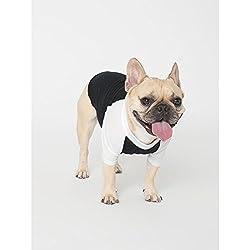 American Apparel Two Tone 3/4 Sleeve Dog T-Shirt