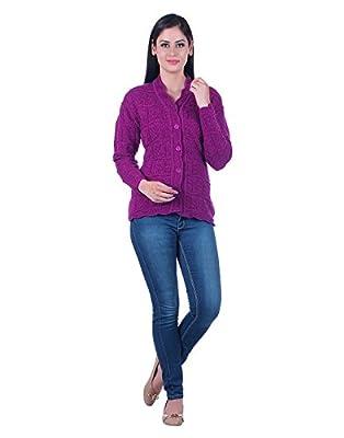 eWools Women's/Ladies / Girls Woolen Winter wear Cardigan (Self Design)