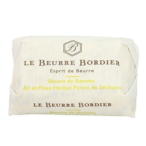 Preisvergleich Produktbild Artisan Bordier Knoblauch,  Kräuter & Sichuan Pfeffer Butter,  125g,  Frische vom Tiefkühlschrank