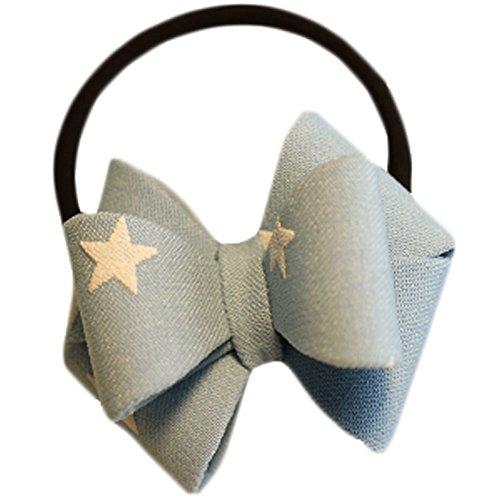 Hair Bands Mode Corde cheveux bowknot Accessoires cheveux(Blue Stars)