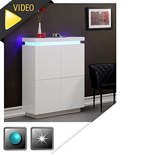 flash-buffet-haut-blanc-laque-avec-led-bleue