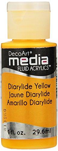 Deco Art dryld yellow-media Fluid Acryl, Acryl, mehrfarbig