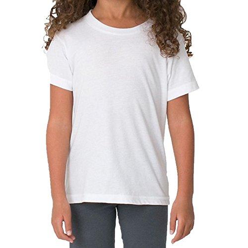 American Apparel Jungen Modern T-Shirt Gr. 104, weiß (T-shirt Kinder American Apparel)