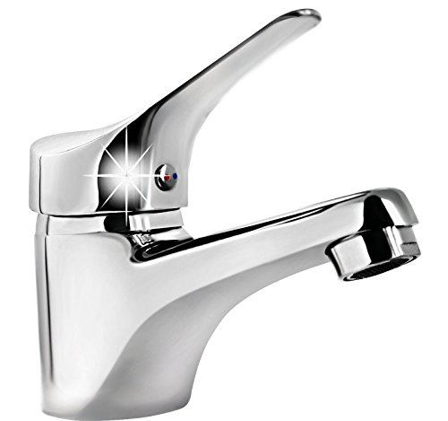Hochwertiges Badarmatur-Einhebelmischer-Waschtischbatterie -CHROM 47 cmm
