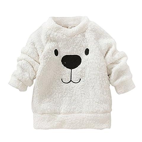 Loveble mon bébé est mignon bear imprimé au pull blanc pour les 0 - 3 ans sweatshirts jumper