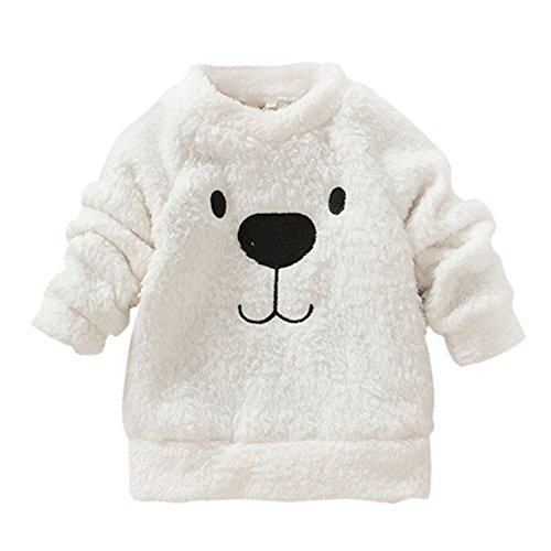 ESHOO 0-24 Months Baby Girl Winter Thick Rabbit Hoodie Romper Tops