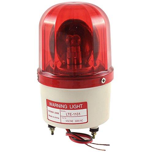 sourcingmap® AC 220V 10W Industrial Alarm System Rot Rotierend Warnung Licht Lampe LTE-1101 (Impuls-licht-maschine)