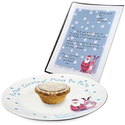 Escena de nieve Cuchillas plato para tartas y letras, placa personalizable en inglés para, de recuerdos,