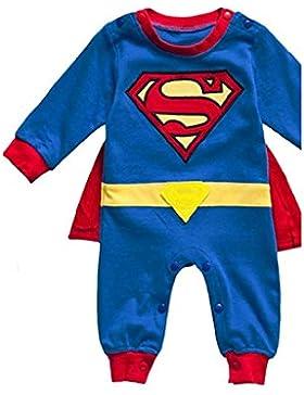 DS (Gr. 68-86) NIEDLICHER SUPERMAN STRAMPLER *Gr. 86* LANG BABY OVERALL SPIELANZUG
