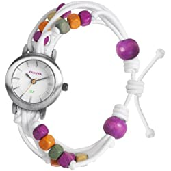 Kahuna Women's Quartz Watch with White Dial Analogue Display and White Plastic or PU Strap KLF-0015L