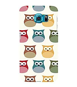 EPICCASE Colorful Owls Mobile Back Case Cover For Samsung Galaxy S6 Edge (Designer Case)