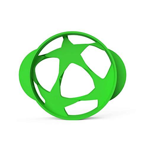 Fußball Keksausstecher Jungs Fussball Ausstecher │ inkl. 2 Rezepten │ Bio-Kunststoff │Made in Germany │ Fussball Feld Ball Trikot Ausstechform Kindergeburtstag für Tortendeko (Fußball Champion groß)