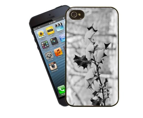 Eclipse Geschenk Ideen Winter Holly Snow Scene-iPhone 4/4S Schutzhülle Winter Holly