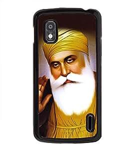 Guru Nanak Dev Ji 2D Hard Polycarbonate Designer Back Case Cover for LG Nexus 4 E960 :: LG Nexus 4 :: LG Mako