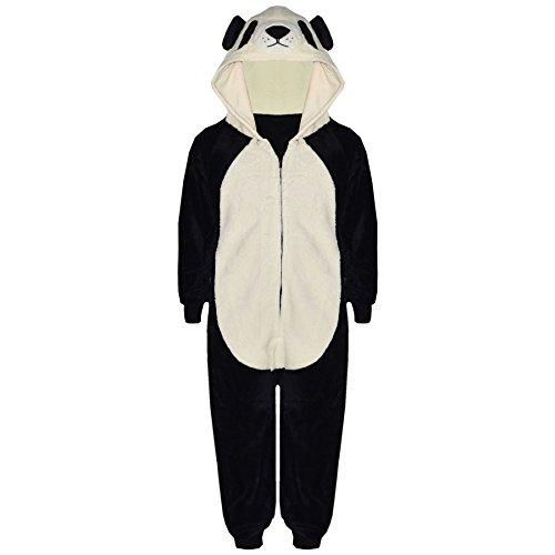 Kostüme Kostüme Alle Kinder Halloween Kids'halloween (A2Z 4 Kinder Kinder Mädchen Jungen Einteiler extra weich flauschig Panda Alles in eins Tier Halloween Kostüm New Alter 7 8 9 10 11 12 13 14 Jahre - Panda,)