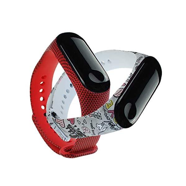 BITUBITU Reloj de Pulsera Mi Band 3 Pulsera de impresión Correa de reemplazo para Xiaomi Mi Band 3 4