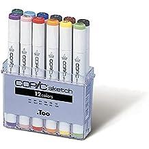 Copic Sketch - Rotulador permanente (12 unidades), multicolor