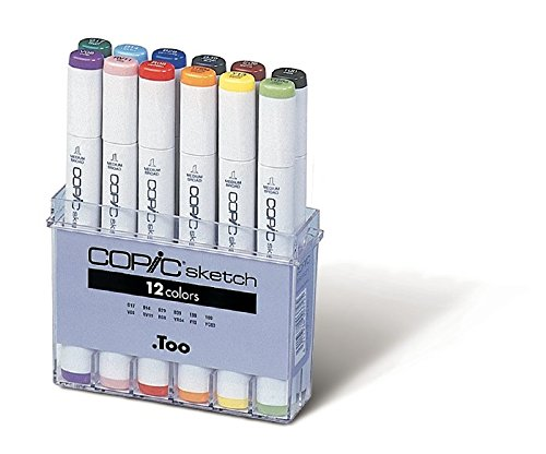Copic Sketch - Rotulador permanente (12 unidades), multicolor