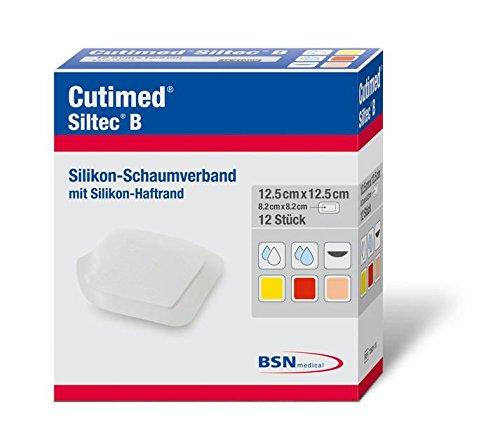 Er Behandlung (Cutimed 7263112 Verbände, Siltec B, 7,5 cm x 7,5 cm (12-er pack))