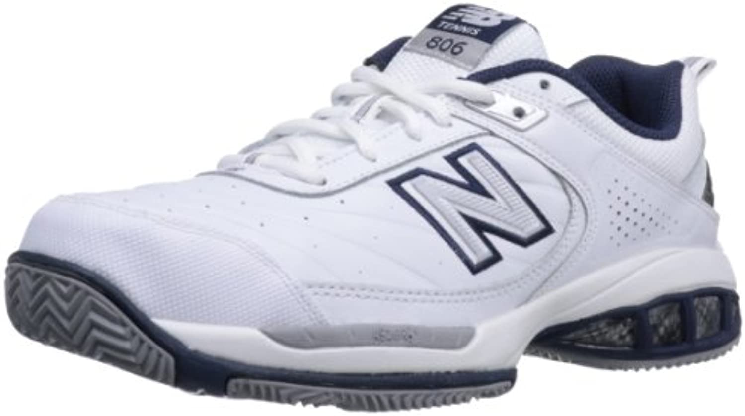 New Balance Men's mc806 Tennis Shoe, White, 13 2E US