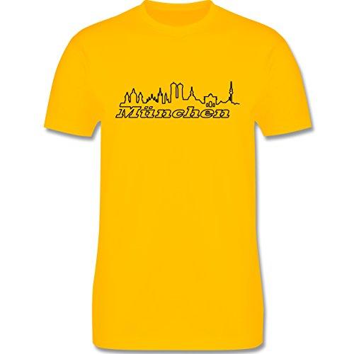 Skyline - München Skyline - Herren Premium T-Shirt Gelb