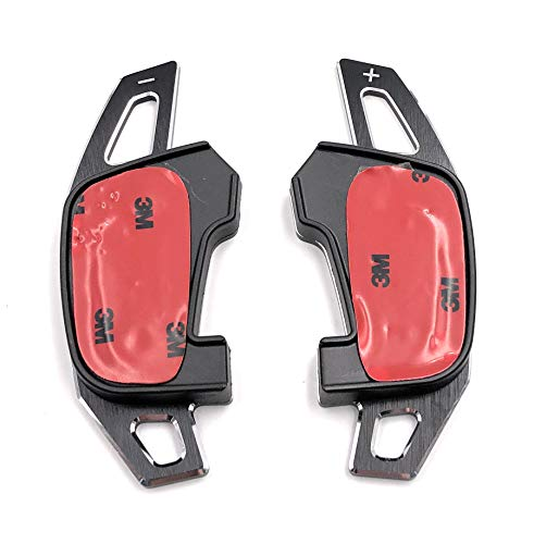 Onlineworld2013 Comandi del Cambio Shift Paddle Golf 7 GTI R GTD Polo GTI 20 Scirocco FL nero Aluminium