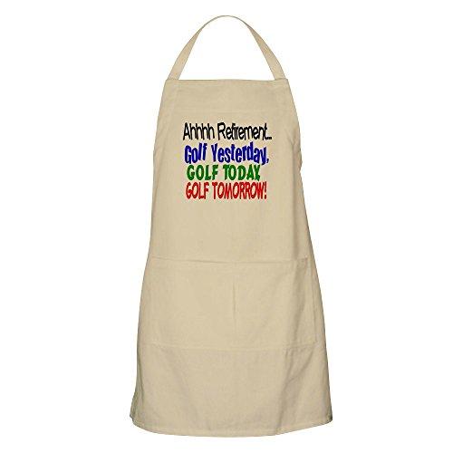 CafePress–Ahhh, Ruhestand Golf Grillschürze–Küche Schürze mit Taschen khaki (Golf Shirt Vater)