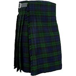 Para hombre biackwatch tradicional para falda escocesa Scottish Highland Tartan e instrucciones para hacer vestidos 102 cm