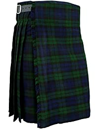 Mens Kilt scozzese BlackWatch tradizionale Highland Tartan Dress