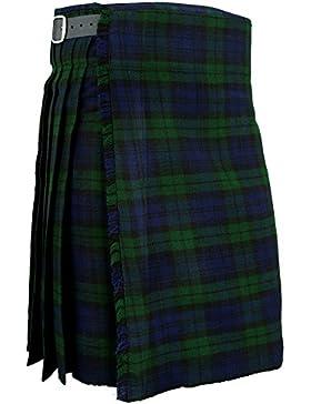 Para hombre biackwatch tradicional para falda escocesa Scottish Highland Tartan e instrucciones para hacer vestidos