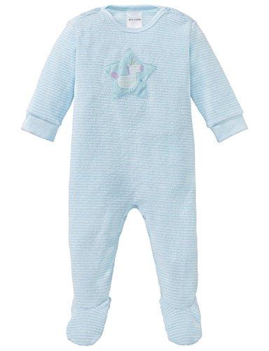 Schiesser Mädchen Zweiteiliger Schlafanzug Einhorn Baby Anzug mit Fuß, Blau (Türkis 807), 92