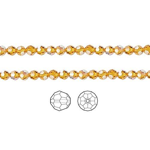 Swarovski Kristall Perlen Topaz AB 5000facettiert rund 6mm Paket von 12 -