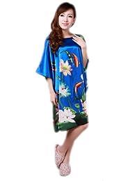 JTC Femmes kimono Pyjama Vêtement/Robe/peignoir de Nuit/de Bain/de chambre,Pyjama en soie trois couleurs