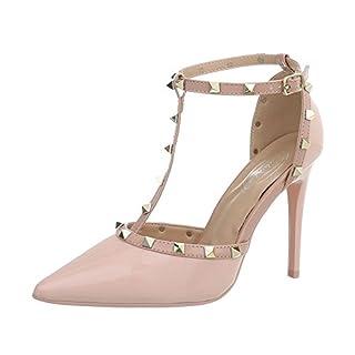 Ital-Design Damenschuhe Pumps High Heel Pumps Synthetik Rosa Gr. 38