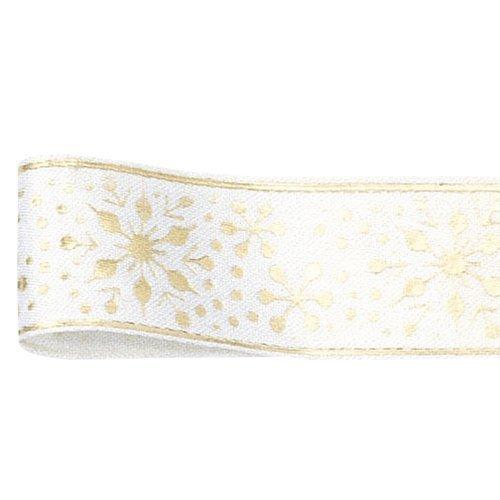 The Ribbon Co Flocon de Neige Ruban 19 mm x 10 m Blanc