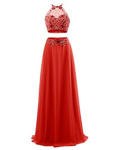 Bbonlinedress Robe de cérémonie Robe de soirée longueur ras du sol deux pièces Rouge